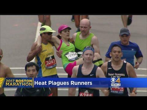 Heat Plagues Boston Marathon Runners