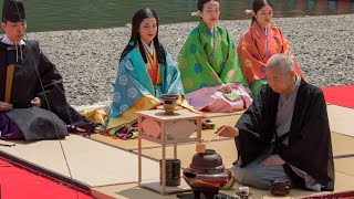 A tea ceremony was one of the highlights of the Mifune Matsuri (三...