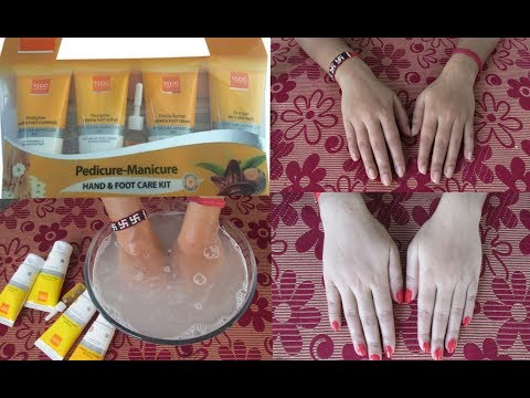 VLCC Pedicure-Manicure Hand & Foot cream review || DEMO || affordable manicure || At Home