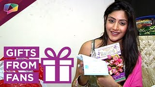 Surbhi Chandna Receives Birthday Gifts From Her Fans Part-02