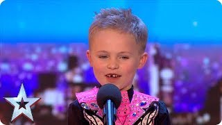 Six-year-old Oscar DAZZLES with incredible Irish dancing! | Auditions | BGT 2018