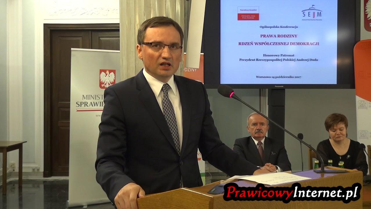Zbigniew Ziobro: Prawa rodziny w działaniach Ministerstwa Sprawiedliwości
