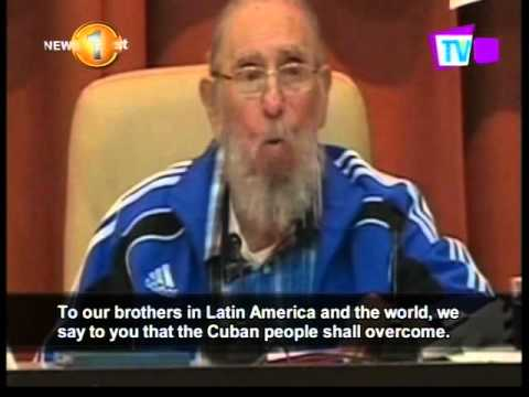Former Cuban leader Fidel Castro gives possible farewell speech