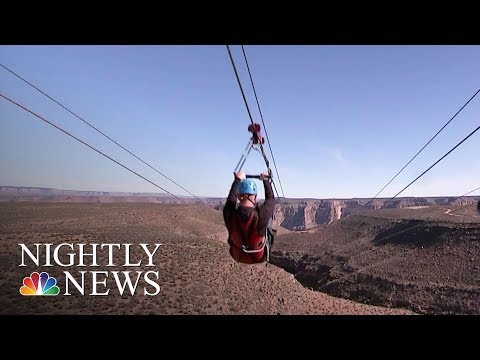 Grand Canyon Offers Zip Lining For First Time Ever | NBC Nightly News