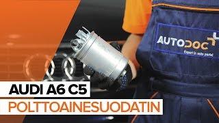 Kuinka vaihtaa polttoainesuodatin AUDI A6 C5 -merkkiseen autoon OHJEVIDEO | AUTODOC