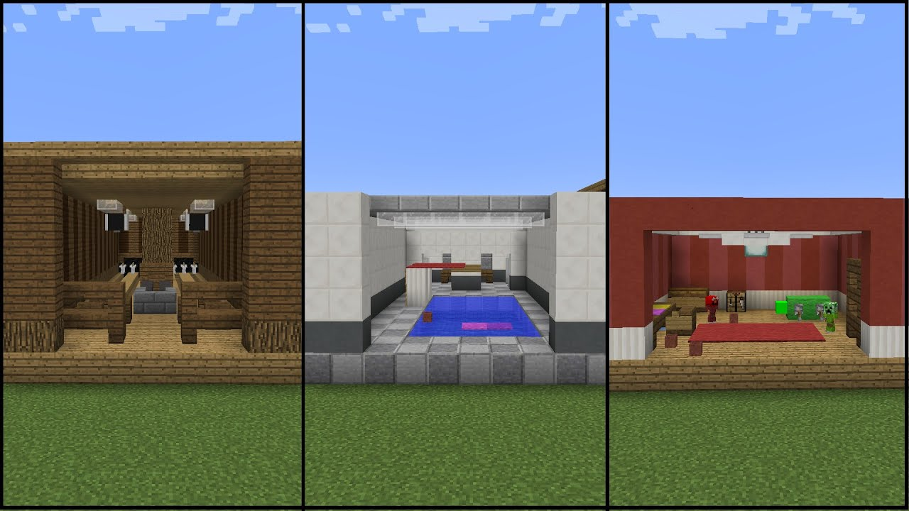 10 minecraft recreation room designs youtube for Rec room ideas for small rooms