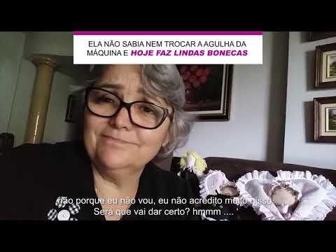 ELA NÃO SABIA NEM TROCAR A AGULHA DA MÁQUINA E HOJE FAZ LINDAS BONECAS