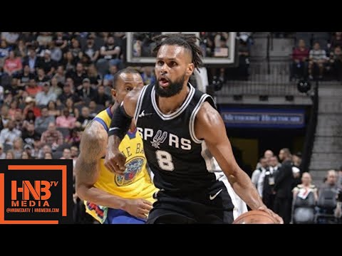 Golden State Warriors vs San Antonio Spurs 1st Half Highlights / March 19 / 2017-18 NBA Season