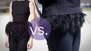 ✂ DIY McQueen Feather Peplum (Sewing Optional)