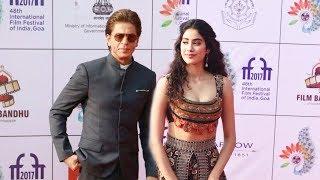Shah Rukh Khan With Sridevi's Daughter Jhanvi Kapoor At Goa IFFI 2017