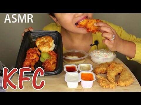 ASMR: KFC Nashville Hot Chicken Strips *Eating Sounds*