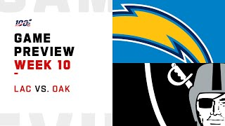 Los Angeles Chargers vs Oakland Raiders Week 10 NFL Game Preview