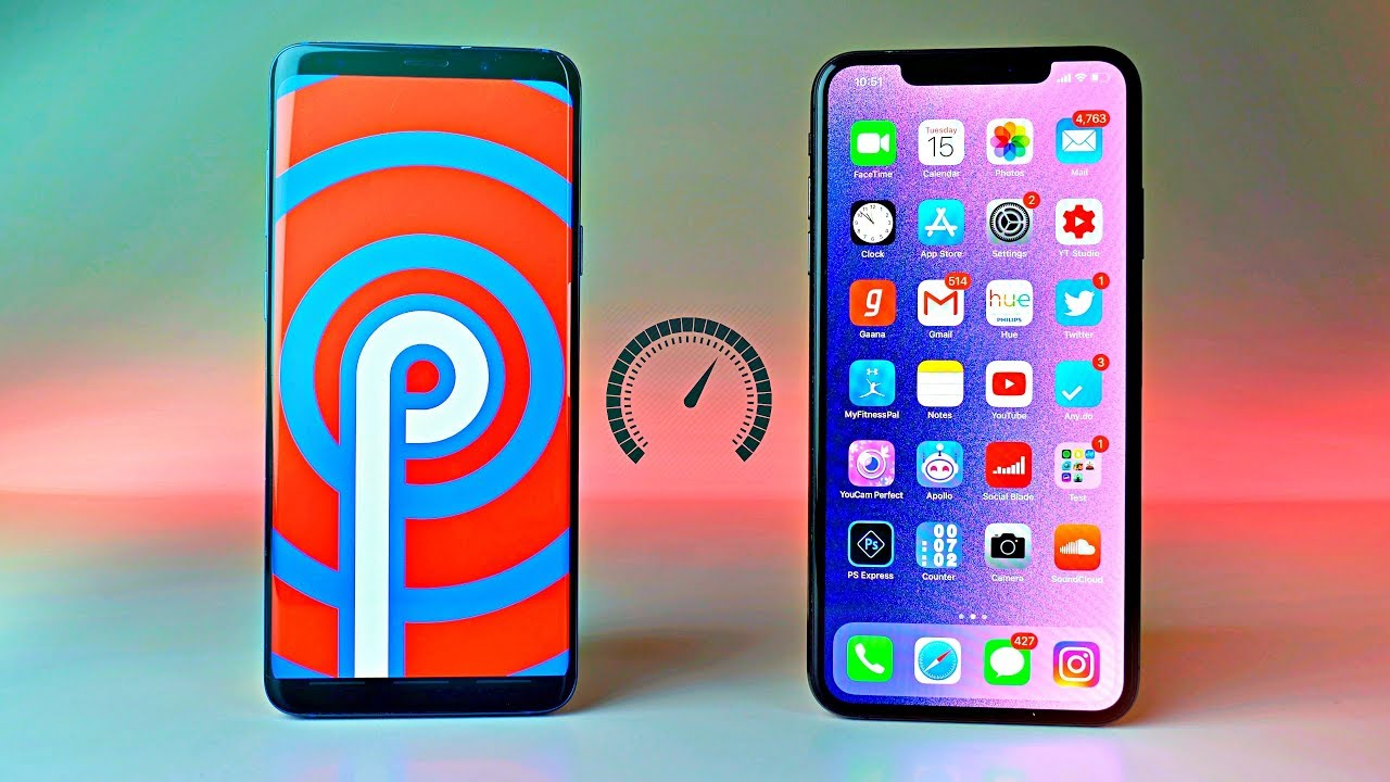 samsung-galaxy-s9-plus-official-one-ui-vs-iphone-xs-max-ios-12-1-2-speed-test