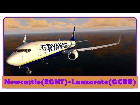 [P3D] RYR38HH   Newcastle-Lanzerote   Ryanair   FS2Crew   PMDG NGX  