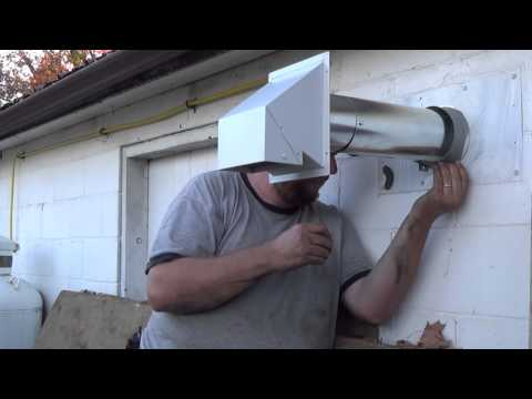Fixing our garage heater vent pipe