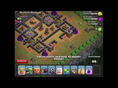 Clash of Clans: PEKKA's Playhouse #49 w/ TH 7 units No Dragons Pekka Balloons (Updated/New 5/2014)