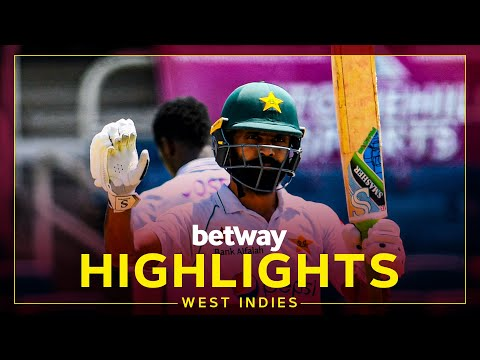 Highlights | West Indies v Pakistan | 2nd Test Day 1 | Betway Test Series presented by Osaka