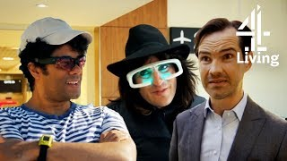 Richard Ayoade Trying Gadgets with Jimmy Carr, Noel Fielding & Stephen Mangan