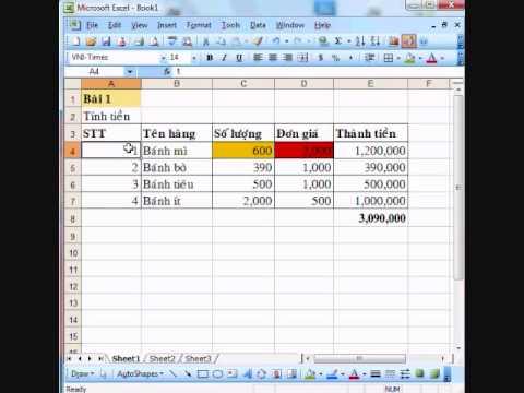 CCA Excel 1 - Co ban