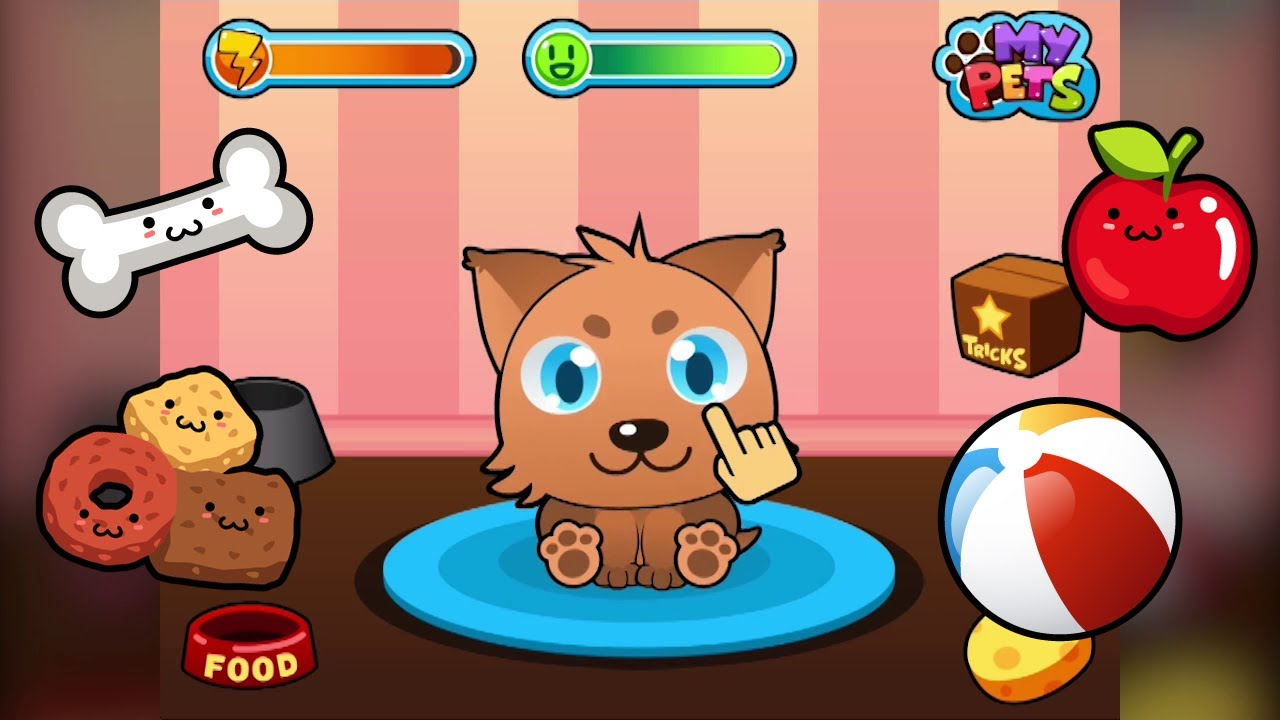 Image of: Simulation Educational Freeware My Virtual Pet Cute Kids Game For Iphone And Android
