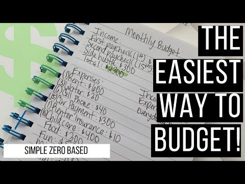 HOW TO: THE EASIEST AND SIMPLEST WAY TO CREATE A MONTHLY BUDGET! 6-MINUTES PROCESS