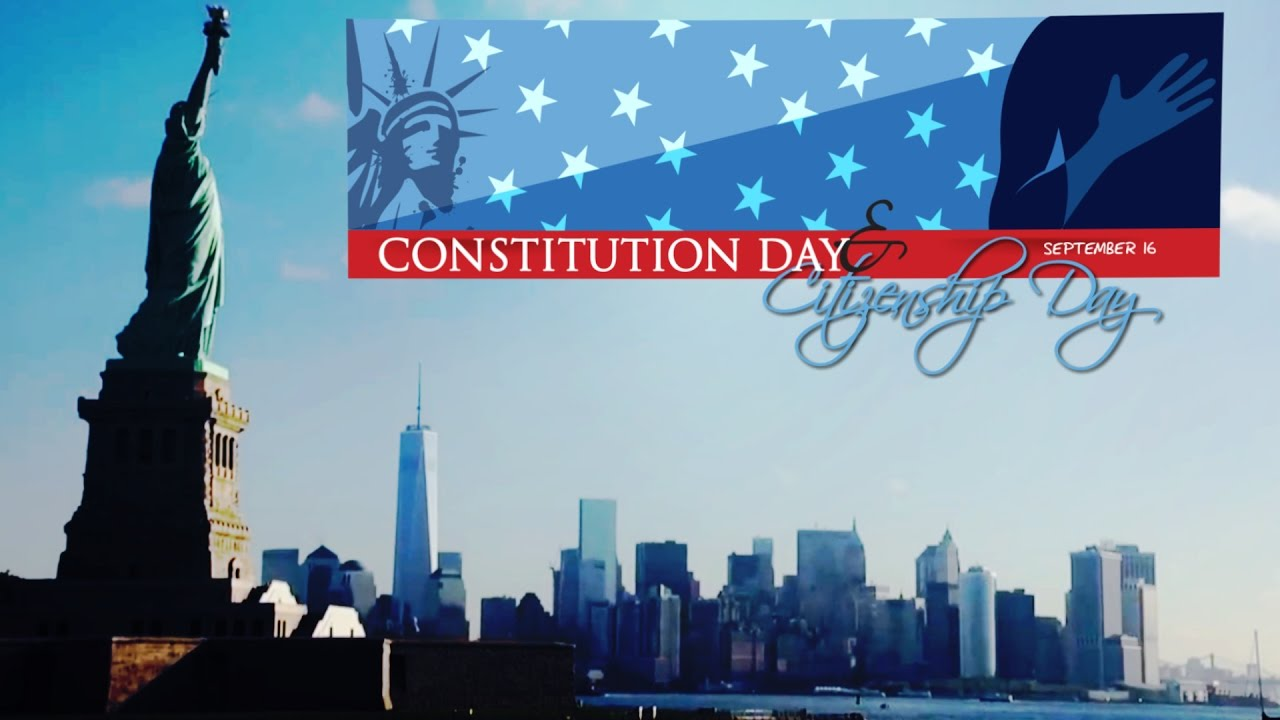 Constitution Day & Citizenship Day 2016 - YouTube