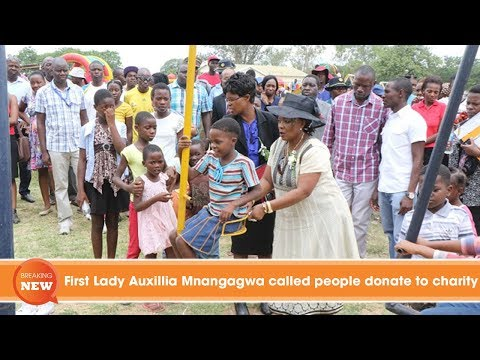 First Lady Auxillia Mnangagwa called people donate to charity