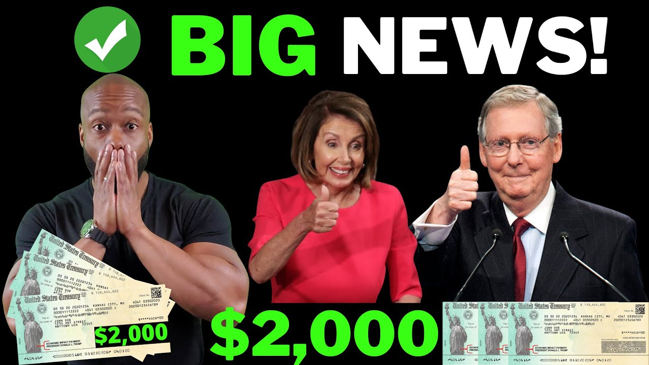 FINALLY TODAY!  $2,000 Stimulus Check Update [GREAT NEWS]