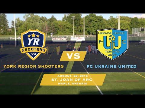 York Region Shooters vs FC Ukraine United   08 28 16
