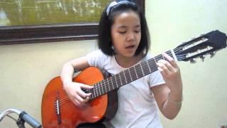 Vietnamese girl with flower, The show lenka guitar
