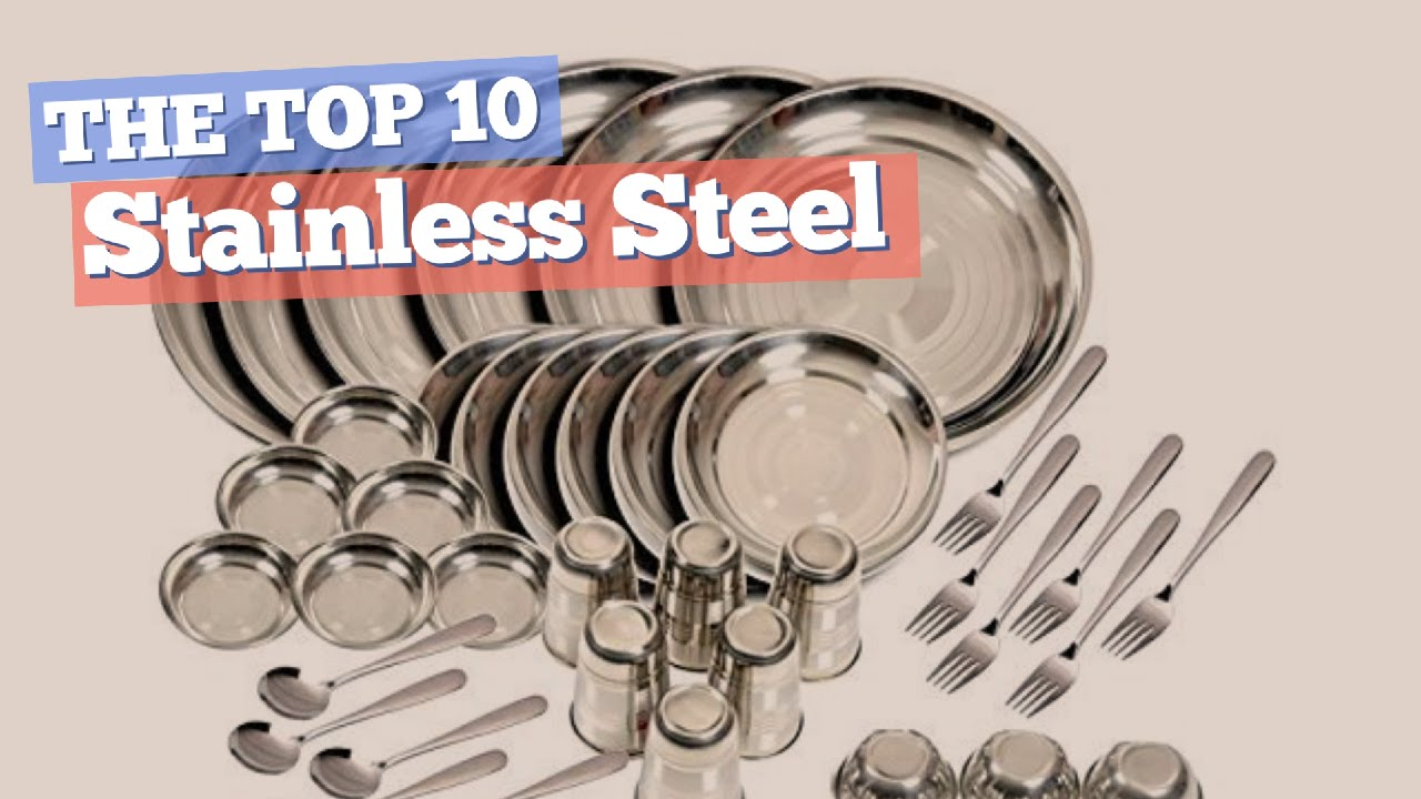 Stainless Steel Dinnerware Sets // The Top 10 Best Sellers 2017  sc 1 st  YouTube & Stainless Steel Dinnerware Sets // The Top 10 Best Sellers 2017 ...