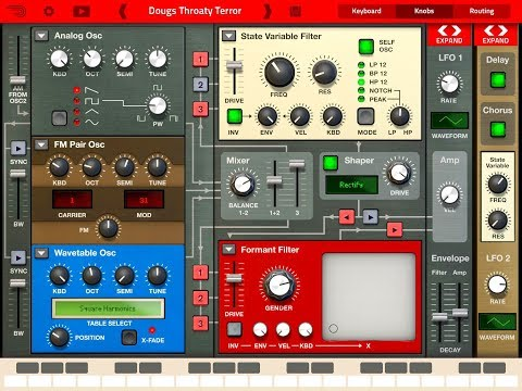 THOR Polysonic Synthesizer by Propellerhead Quick Play Demo for the iPad