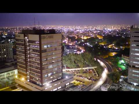 Ghana, Accra city skyline time-lapse.