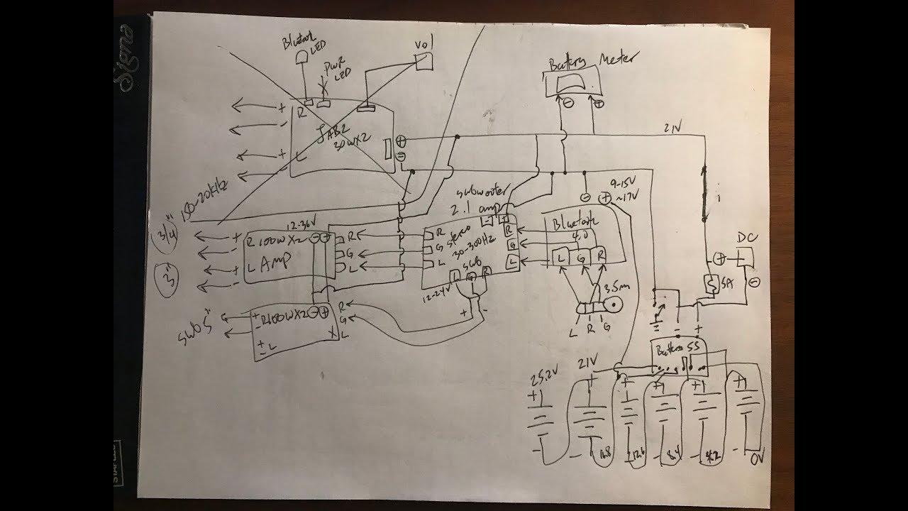 Diy Pelican 1200 1430 Boombox Schematics And Description Youtube Wiring Diagram
