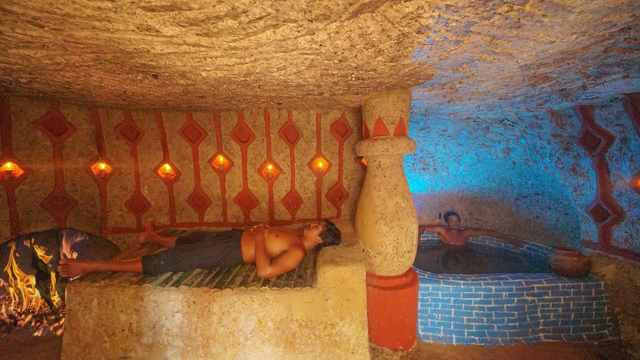 How To Build Temple Underground House And Bath Pools