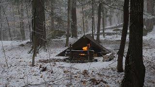 Solo Winter Tarp Cąmp - The Last Day of Winter