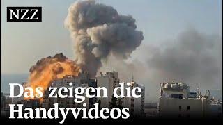 Explosionen in Beirut: Das zeigt die Videoanalyse