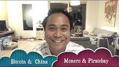 Bitcoin Monero news: China's trading volume & Piratebay