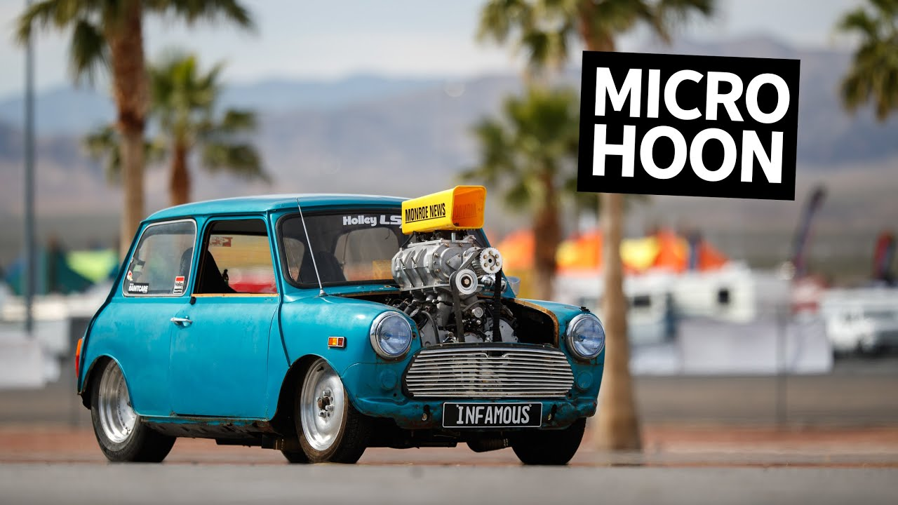 Insane 600hp Supercharged V8 Powered Mini Cooper Burnout