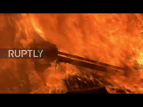Spain: Streets On Fire As Protest Against COVID-19 Restrictions Hits Barcelona