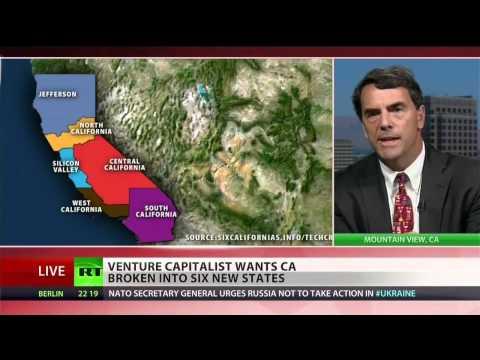Venture capitalist wants six, smaller California states