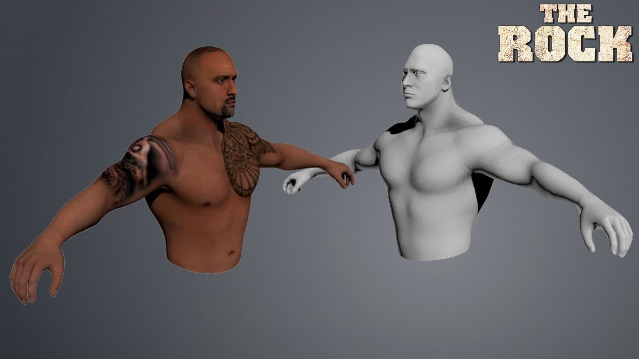 The Rock 2017 Updated model w/ New Tattoo & Beard (WWE ...