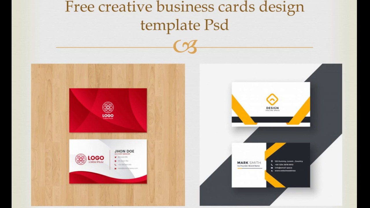 Free creative business cards design template psd / roseclix business card Throughout Creative Business Card Templates Psd
