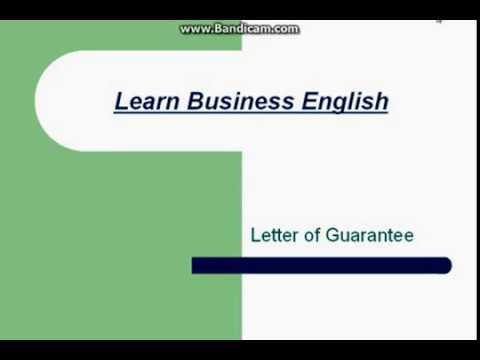 المصطلحات التجارية  بالانجليزية-14 خطابات الضمان Letter of Guarantee- Bidding process