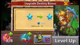 Fully Maxing Out DESTINY Skeletica BYE FAME 40 Levels Castle Clash