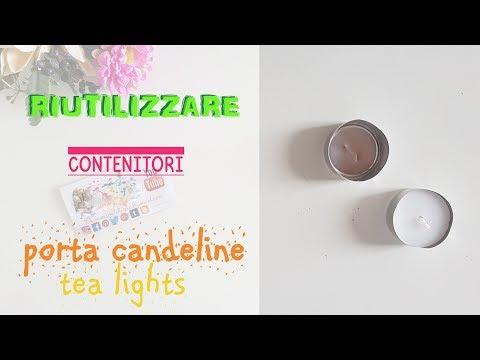 Come RIUTILIZZARE i PORTA CANDELE TEA LIGHTS: 7 idee + 1 trucchetto ♻ riciclo creativo tutorial