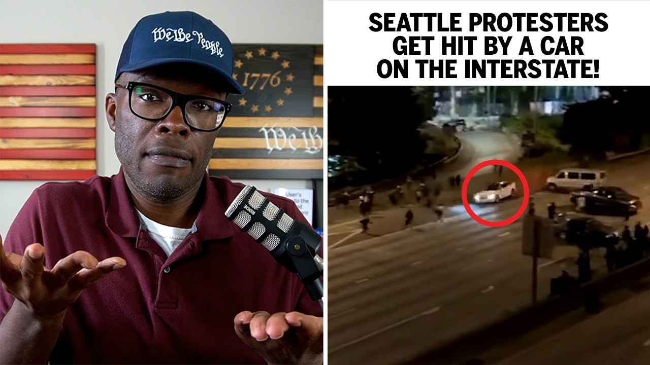 Seattle Protesters Get HIT By A CAR On The Interstate!
