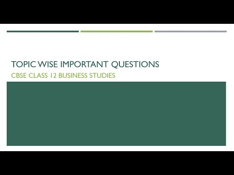 Topic wise important questions for cbse class 12 business studies topic wise important questions for cbse class 12 business studies malvernweather Image collections