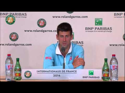 Roland Garros 2014 Final Interview Djokovic