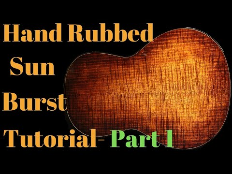 Hand Rubbed Sunburst Part 1 BODY Beau Hannam Guitars and Ukuleles